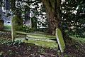 Church of St Mary and St Christopher, Panfield - churchyard broken tomb.jpg