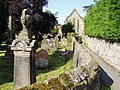 Churchyard and path at rear of the Church of the Holy Cross, Haltwhistle - geograph.org.uk - 1442409.jpg
