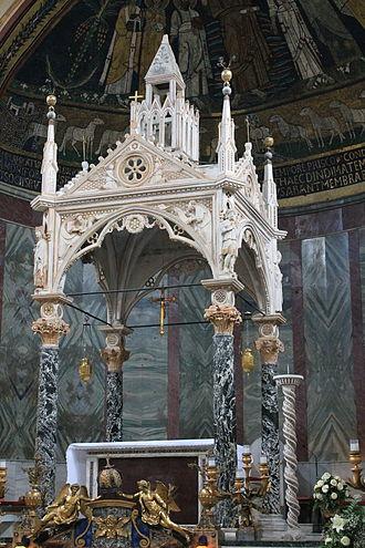 Santa Cecilia in Trastevere - Ciborium attributed to Arnolfo di Cambio.