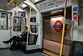 Circle line train C69 at Westminster interior view.jpg