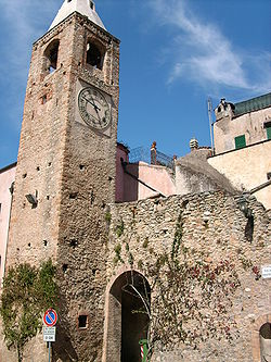 The bell tower of the church of Santa Maria Maddalena