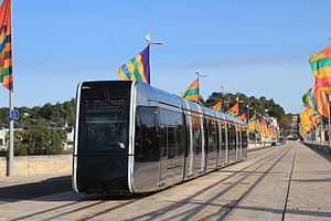 Tours tramway - A tram in Tours