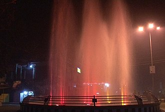 Golaghat - Fountain display under dark lighting