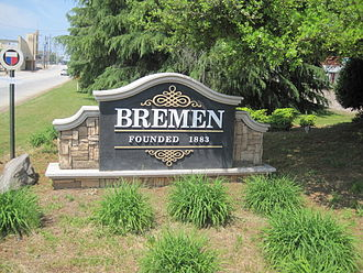 Bremen, Georgia - Image: City sign in Bremen, Georgia