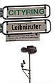 Cityring Leibnizufer Goethestraße Straßenschilder Infotafel zu Gottfried Wilhelm Leibniz Videoüberwachung.jpg