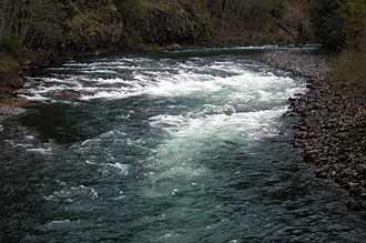 Clackamas River - Whitewater on the Clackamas River as seen from Highway 224 at Carter Bridge