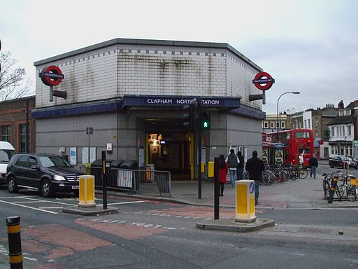 Clapham North stn entrance