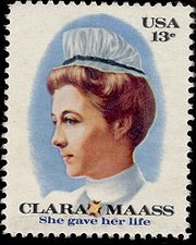 Clara Maass 13 cent stamp
