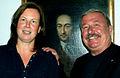Claudia Wilholt-Keßling, Gemälde Porträt Gottfried Wilhelm Leibniz, Dr. Georg Ruppelt, Gottfried Wilhelm Leibniz Bibliothek - Niedersächsische Landesbibliothek.jpg