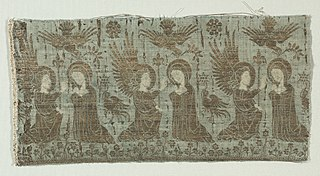 Textile Fragment with the Annunciation (1931.61)