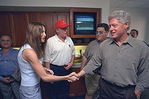 Melania Trump - Melania Trump meeting President Bill Clinton in 2000