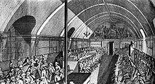 Заседание якобинского клуба в библиотечном зале монастыря св. Якова (1791 г.).