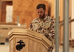 Coalition Forces aboard Leatherneck observe Anzac Day 110425-M-PH073-004.jpg