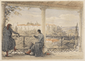 Coimbra - Looking over the Gardens of Santa Cruz (1839) - Vivian George.png