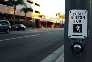 Pedestrian - Pedestrian signal in Santa Ana, California.