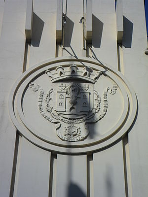 Coliseu do Porto - Detail of the municipal seal identifying it as managed by the Municipal Council of Porto