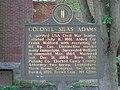 Colonel Silas Adams historical marker.jpg