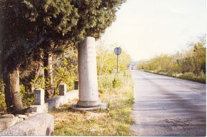"Montepaone - The so-called ""Column of Hannibal""."