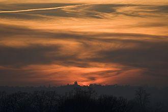 Horton Heath, Hampshire - A colourful sunset near Horton Heath