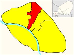 Commune II (Niamey) - Image: Commune II (Niamey Map)