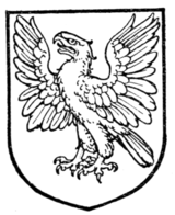 Fig. 450.—Eagle rising, wings elevated and displayed.