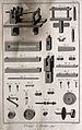 Components of the machinery used in pewter manufacture. Etch Wellcome V0023623ER.jpg