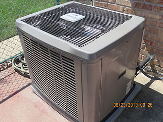 Condenser (heat transfer) - Condenser unit for central air conditioning for a typical house