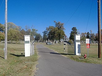 Confederate Memorial Gates in Mayfield - Main gate
