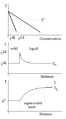 Constitutional supercooling - phase diagram, concentration, and temperature.png