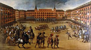 Juan de la Corte - Feast at the Plaza Mayor, Madrid, now at the Museo Municipal, Madrid