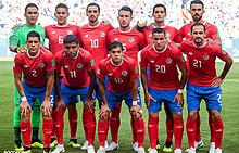 a377e15e3a5 Costa Rica national team at the 2018 FIFA World Cup in Russia
