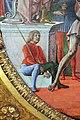 Cosmè tura, giudizio di san maurelio, 1480, da s. giorgio a ferrara, 06 paggio seduto.jpg
