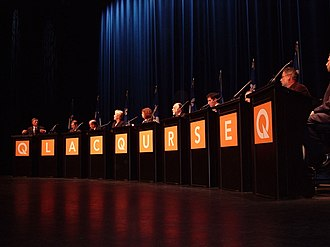 Pauline Marois - The Quebec City candidates debate during the 2005 PQ leadership campaign.