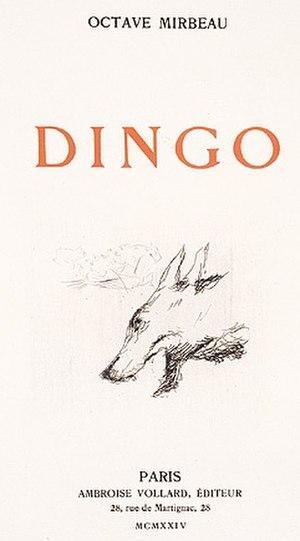 Dingo (novel) - Dingo, Ambroise Vollard Éditeur, 1924