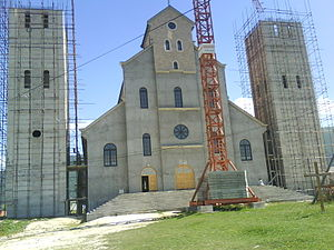 Kupres - Holy Family Roman Catholic Church during the construction process