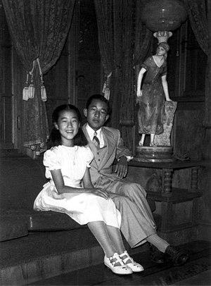 Takako Shimazu - Image: Crown Prince Akihito & Princess Takako 1950 9
