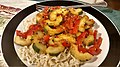 Cucumber and tomatoes on noodles.jpg