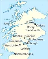 Map of northern Britain