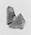 Cuneiform tablet- Atra-hasis, Babylonian flood myth MET 266811.jpg