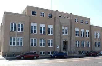 National Register of Historic Places listings in Curry County, New Mexico - Image: Curry County NM Courthouse
