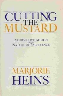 <i>Cutting the Mustard</i> 1987 non-fiction book by Marjorie Heins