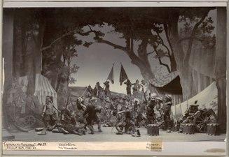 Cyrano de Bergerac, Dramatiska teatern 1901. Föreställningsbild - SMV - H12 020.tif