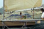 Dériveurs 18 pieds australiens au Salon Nautique International à Flot de La Rochelle 1987 (18).jpg