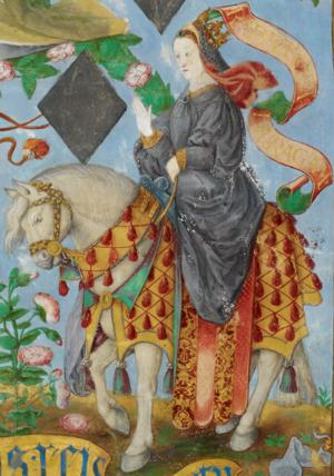 Constance of Sicily, Queen of Aragon - Image: D. Constança de Hohenstaufen, Rainha de Aragão The Portuguese Genealogy (Genealogia dos Reis de Portugal)