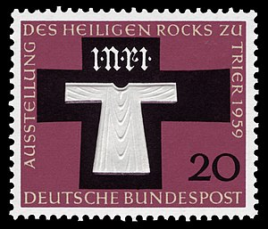 Seamless robe of Jesus - Holy Tunic, Stamp 1959