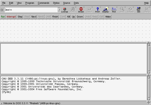 Bildschirmfoto vom Data Display Debugger