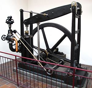 Grasshopper beam engine - German stationary engine of 1847