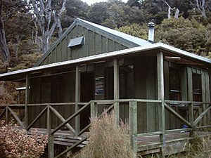 Department of Conservation (New Zealand) - DOC operates much of the backcountry tourist infrastructure of the country, such as this overnight hut on the Rakiura Track.