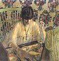 D Frederick Frieseke (1874-1939) La Poudreuse 1913.jpg