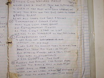 A song or poem written by Daniel Johnston.